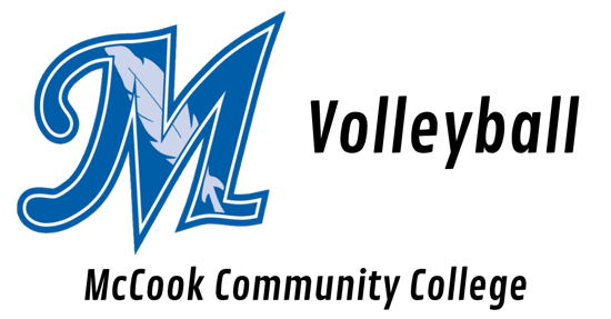 McCook Community College Logo on the left with the words McCook community college Volleyball on the right.