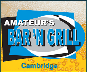 Amateurs Bar and Grill advertisement